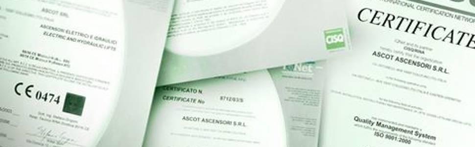 Ascot è azienda certificata ISO 9001:2015